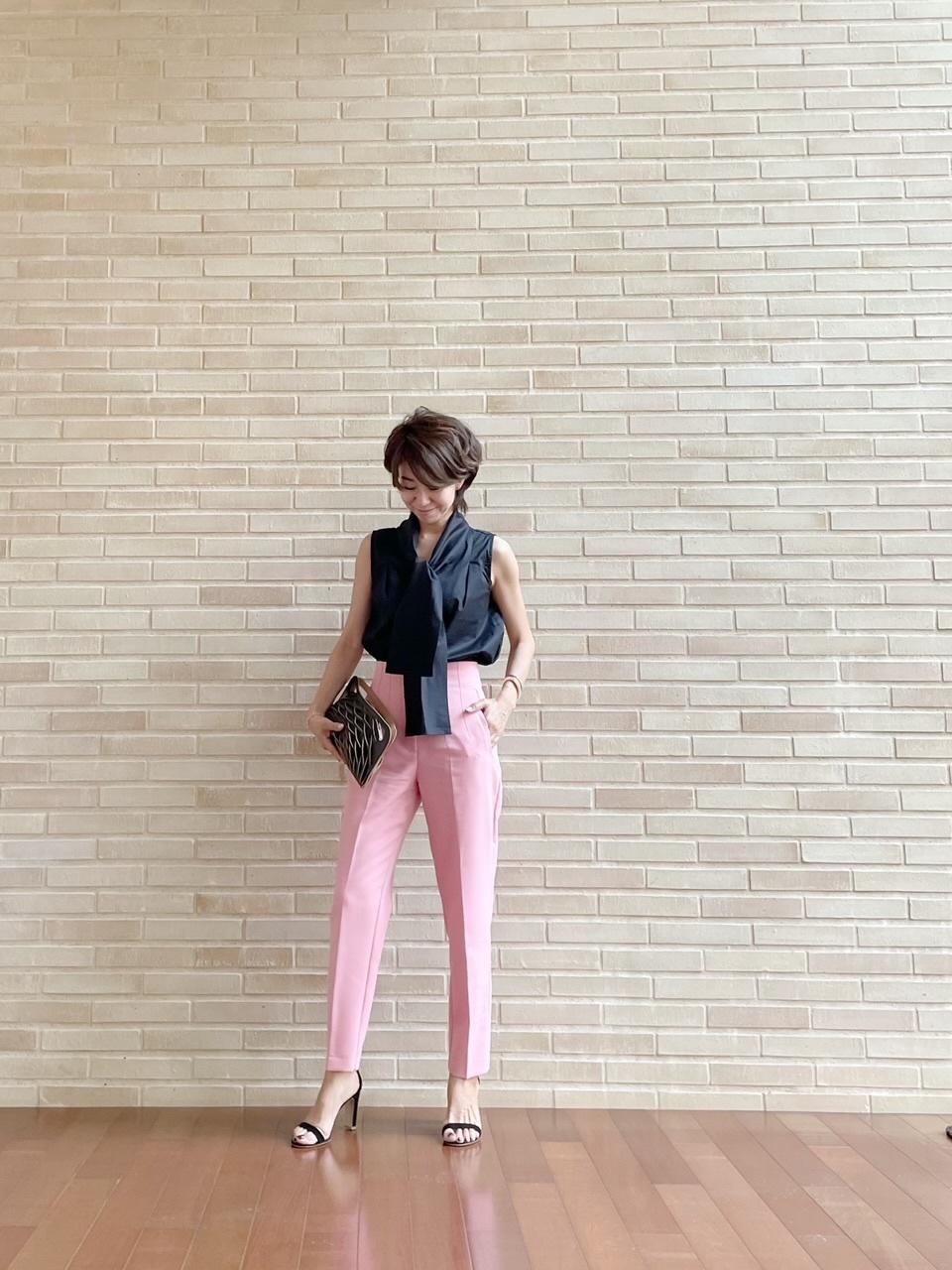 優しいピンクに黒を効かせて♡ピリッと甘辛コーデ_1_2