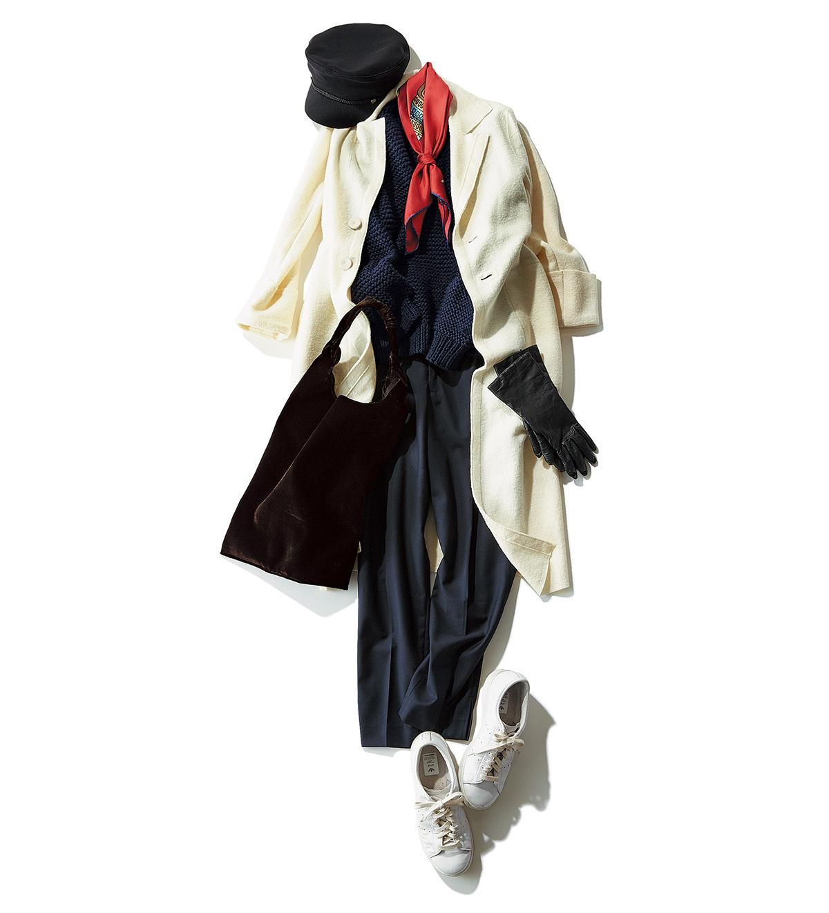 ドラマティックに着映える 白コートをコーデの主役に。_1_2-1