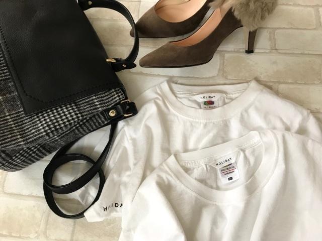白Tシャツコーデ
