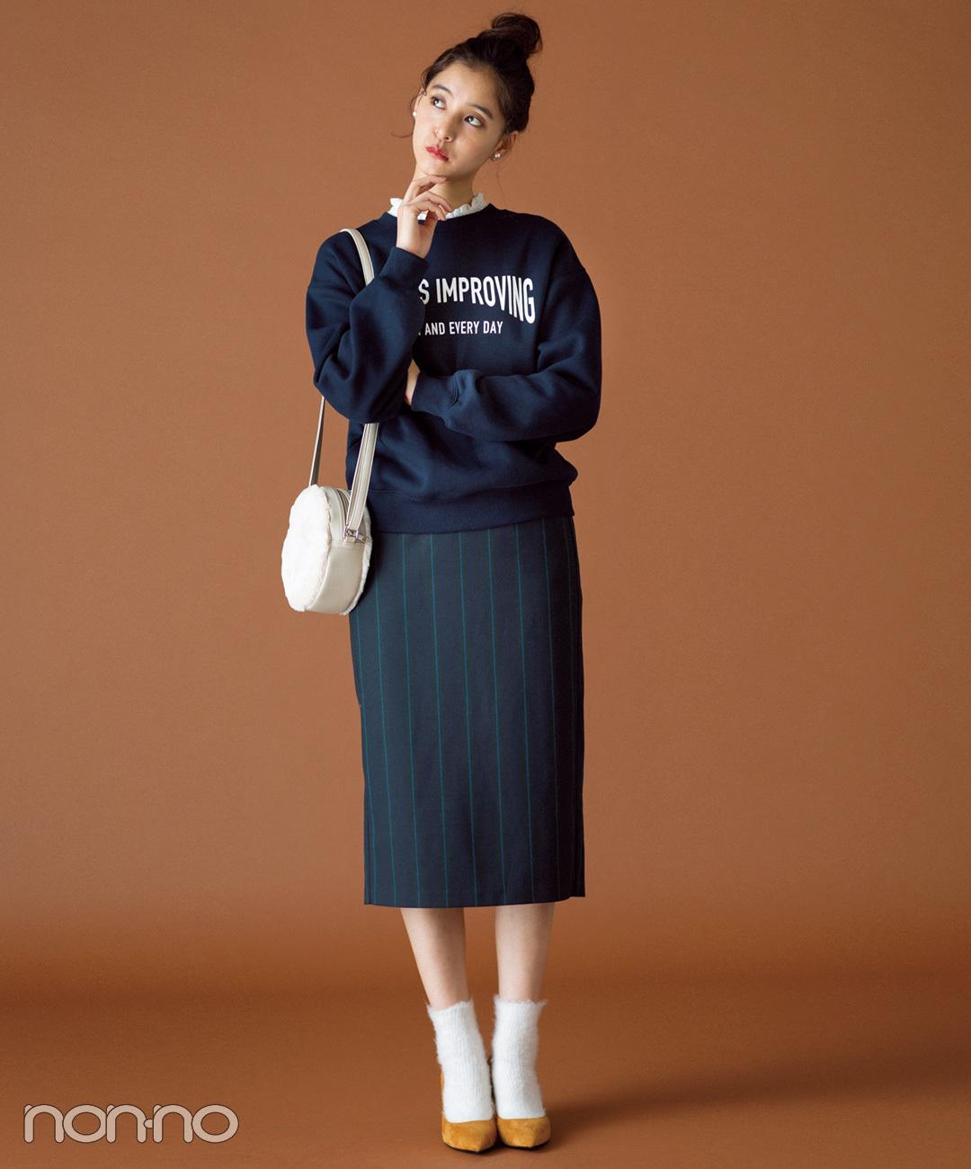 【GUのタイトスカート】プレッピーに転ばせて知的なグッドガール風♡