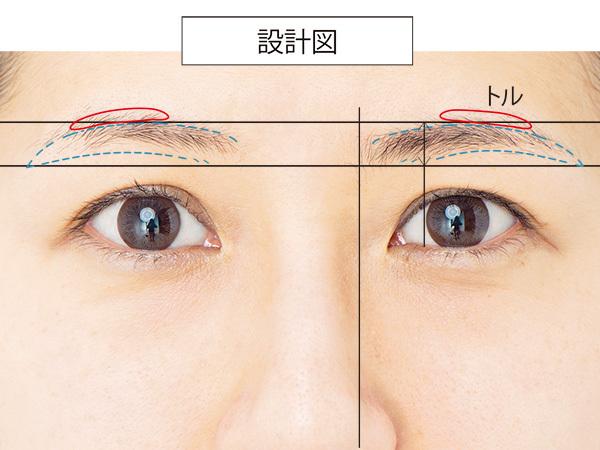 毎回仕上がりが違うんです。左右比対称眉を女っぷり眉に_1_2