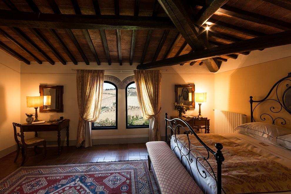 カステッロ・ディ・アマのヴィラに併設されたベッドルーム