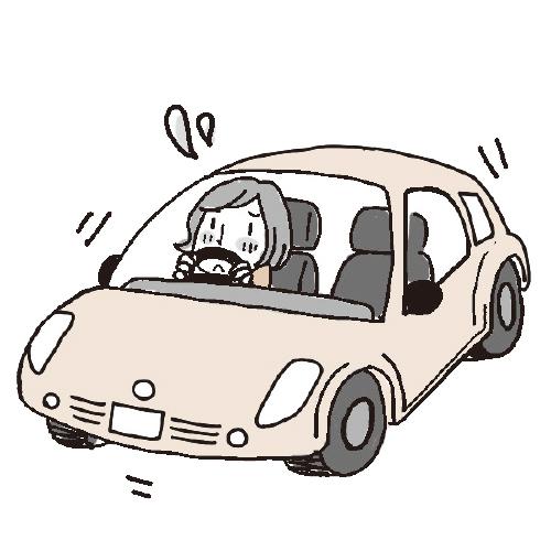 自動車を運転中