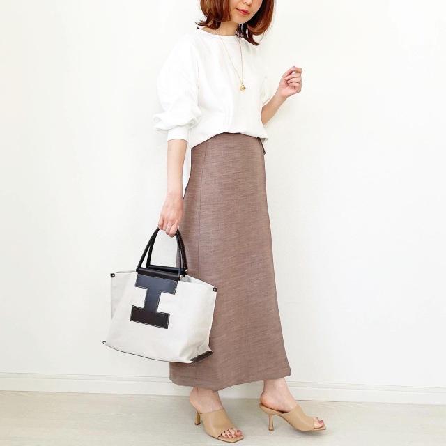 GU新作!脚が長く見えるラップスカート【tomomiyuコーデ】_1_8