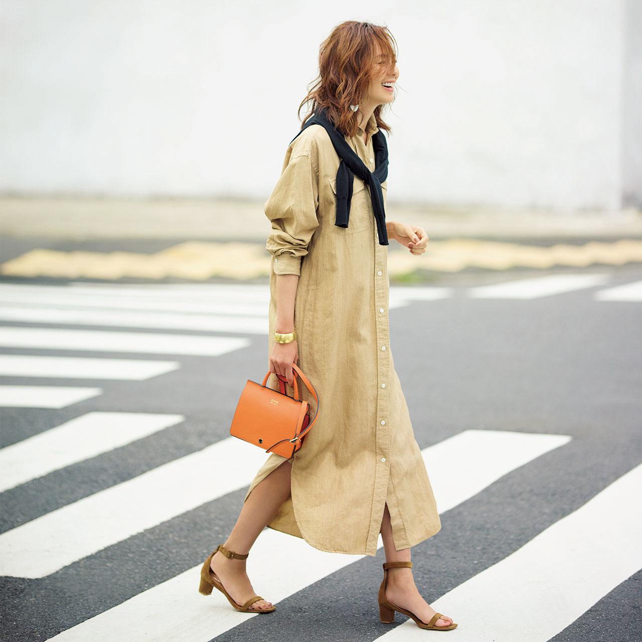 40代のためのシャツワンピース着こなし実例集|アラフォーファッション_1_13