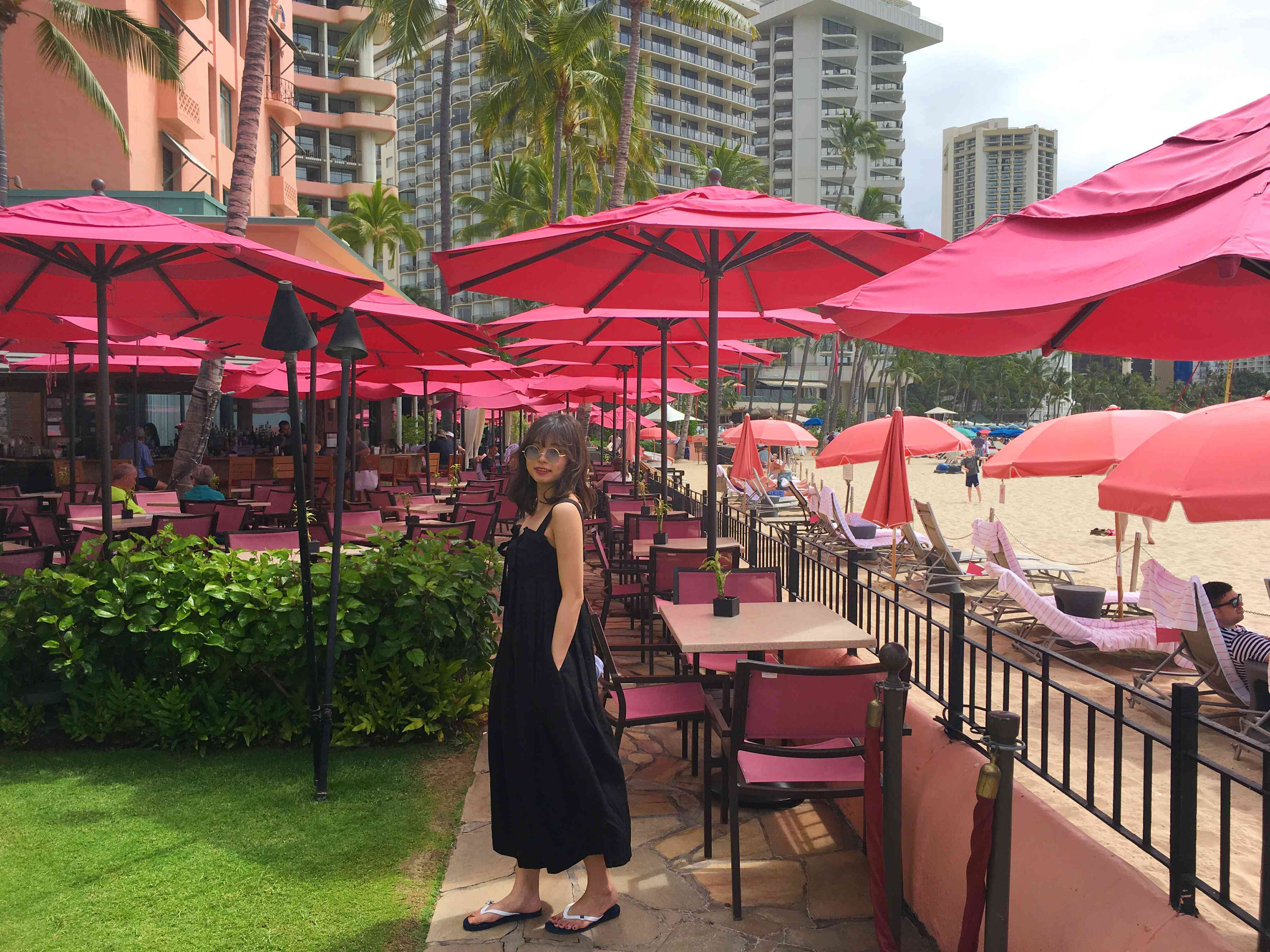 ハワイ ロイヤルハワイアンホテル サーフラナイのピンクパンケーキ_1_2