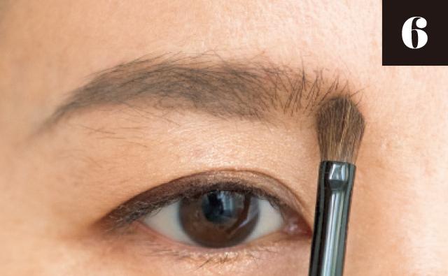 眉頭を描く