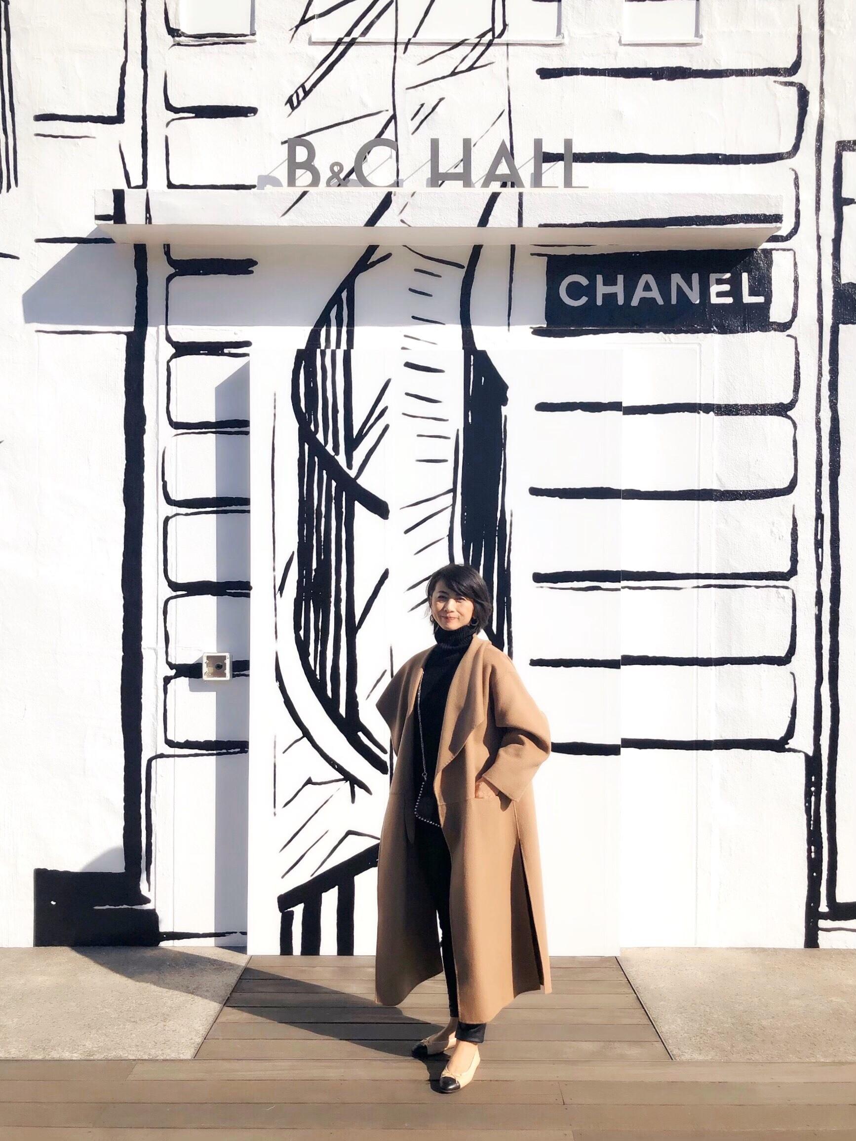 お気に入りキャメル色のコートとシャネル展_1_7