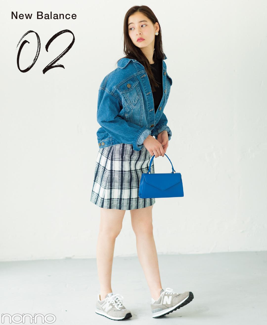 新木優子のスニーカーなのに大人見えコーデ★ニューバランス574をはき回し!_1_2-2