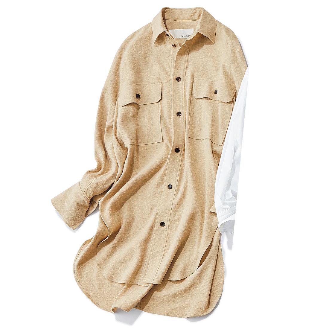 ■ウィム ガゼットのリネン×シルクロングシャツ