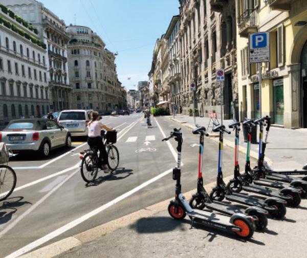 現行の220㎞の自転車レーンに新たに35㎞分が年内までに追加される