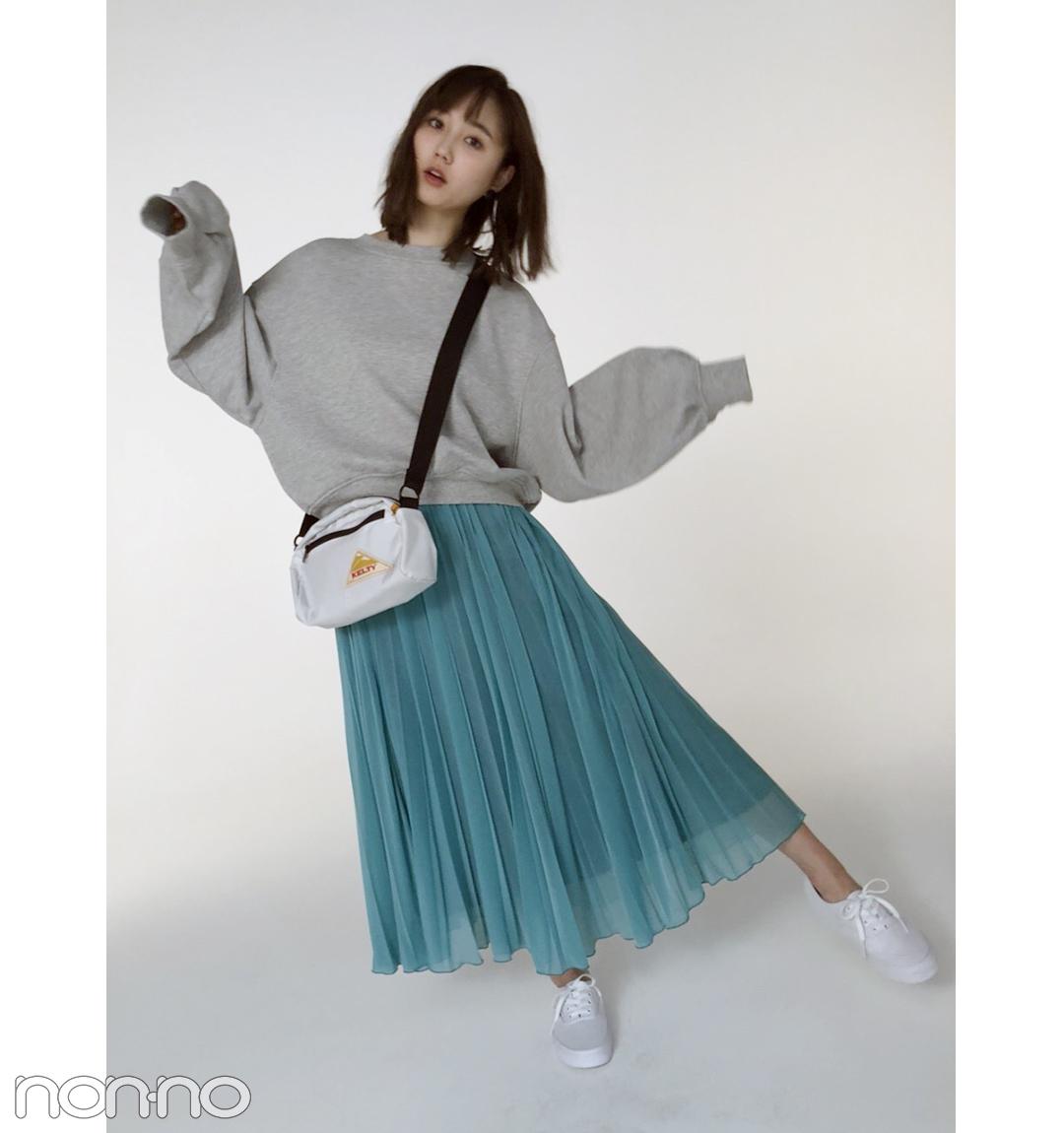 鈴木友菜のフェミニンなスウェットスタイル、真似したい!【毎日コーデ】_1_1