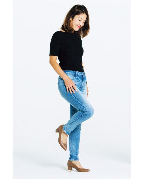 カービーな体型でも履けるデニムを探して!噂のデニムを履き比べてみました_1_3-4