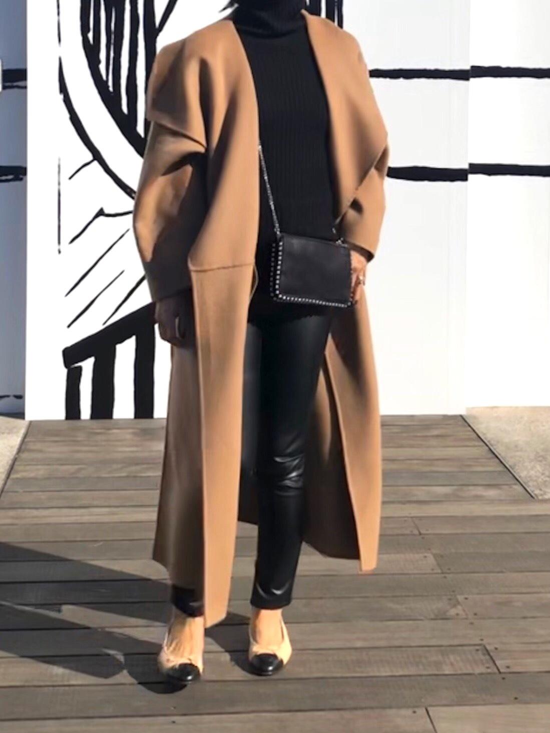 お気に入りキャメル色のコートとシャネル展_1_5