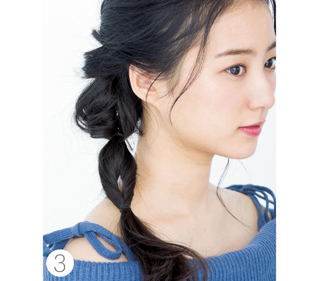 ミディアムからOK★簡単なのに女子会でモテちゃうヘアアレンジはコレ!_1_3-3