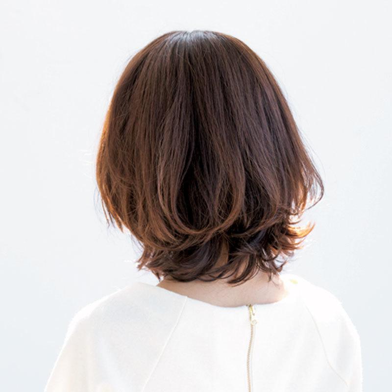 大人は毛先の美しい丸みを作って!柔らかい印象の外ハネロブ【40代のボブヘア】_1_1-3