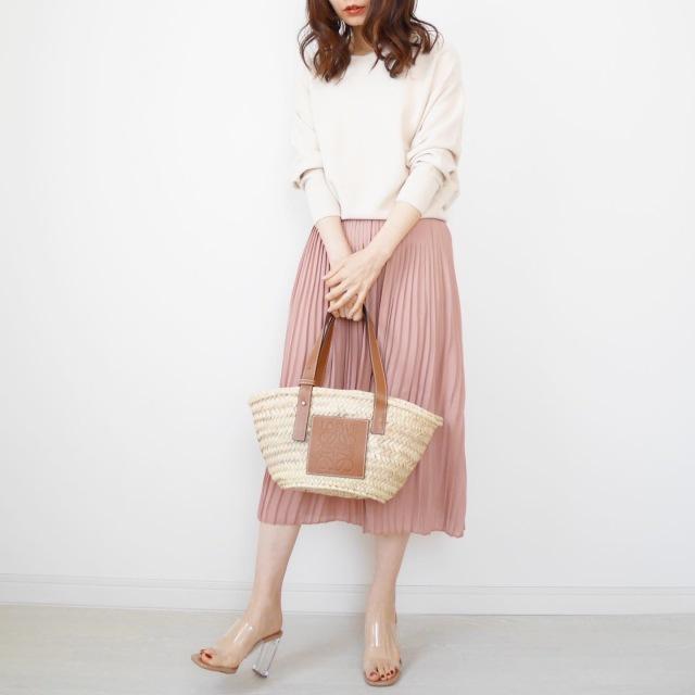 ミモレ丈プリーツスカートで大人フェミニン【tomomiyuコーデ】_1_2