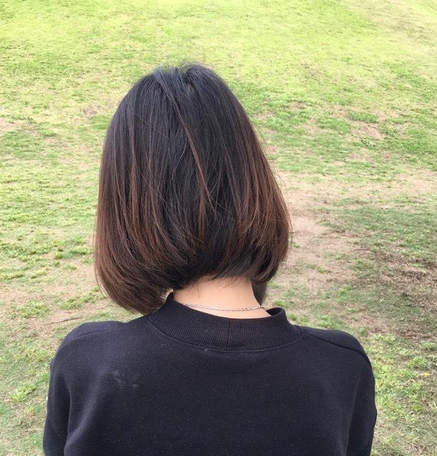 【40代 ヘアー】梅雨に打ち勝つボブスタイル_1_2-2