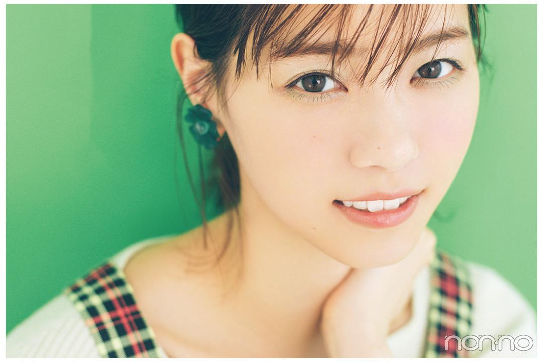 【西野七瀬】今季のトレンド大本命・グリーンは、ふんわり女の子らしく。