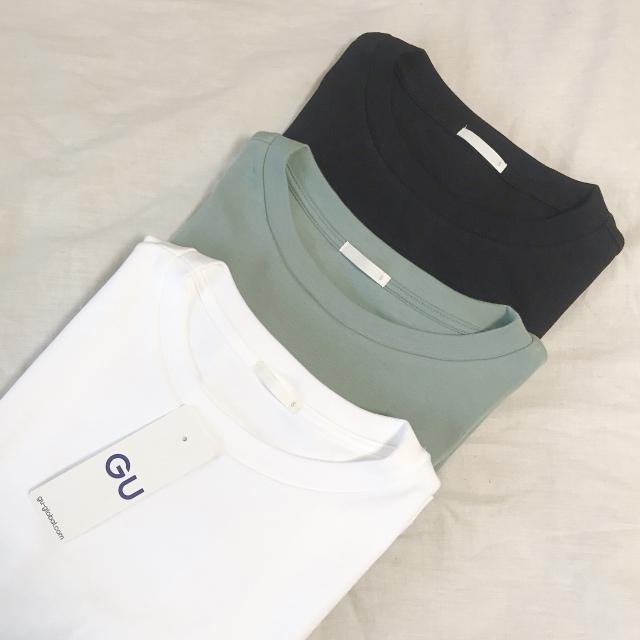 GUのスムースノースリーブTシャツ