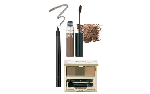 カネボウ化粧品のコフレドール アイブロウカラー 01、エレガンス コスメティックスのパーフェクトブロウ パウダー BR20、SUQQUのフレーミング アイブロウ リキッド ペン 04