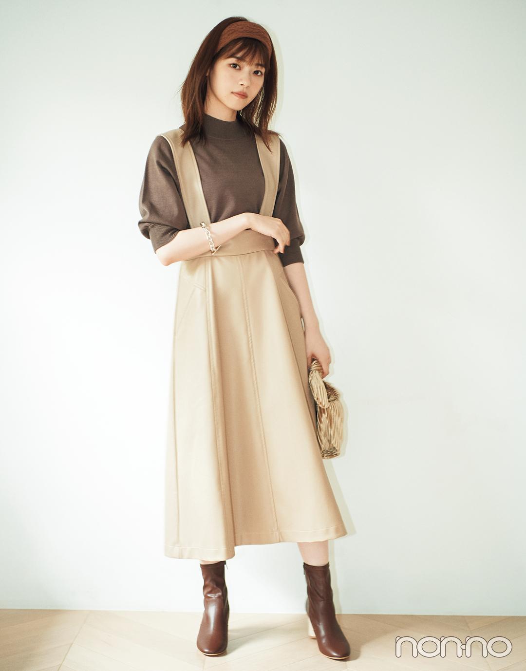 西野七瀬が着る「優しげレザー」、プリーツスカート、ジャンスカでこなれ見え♡_1_4