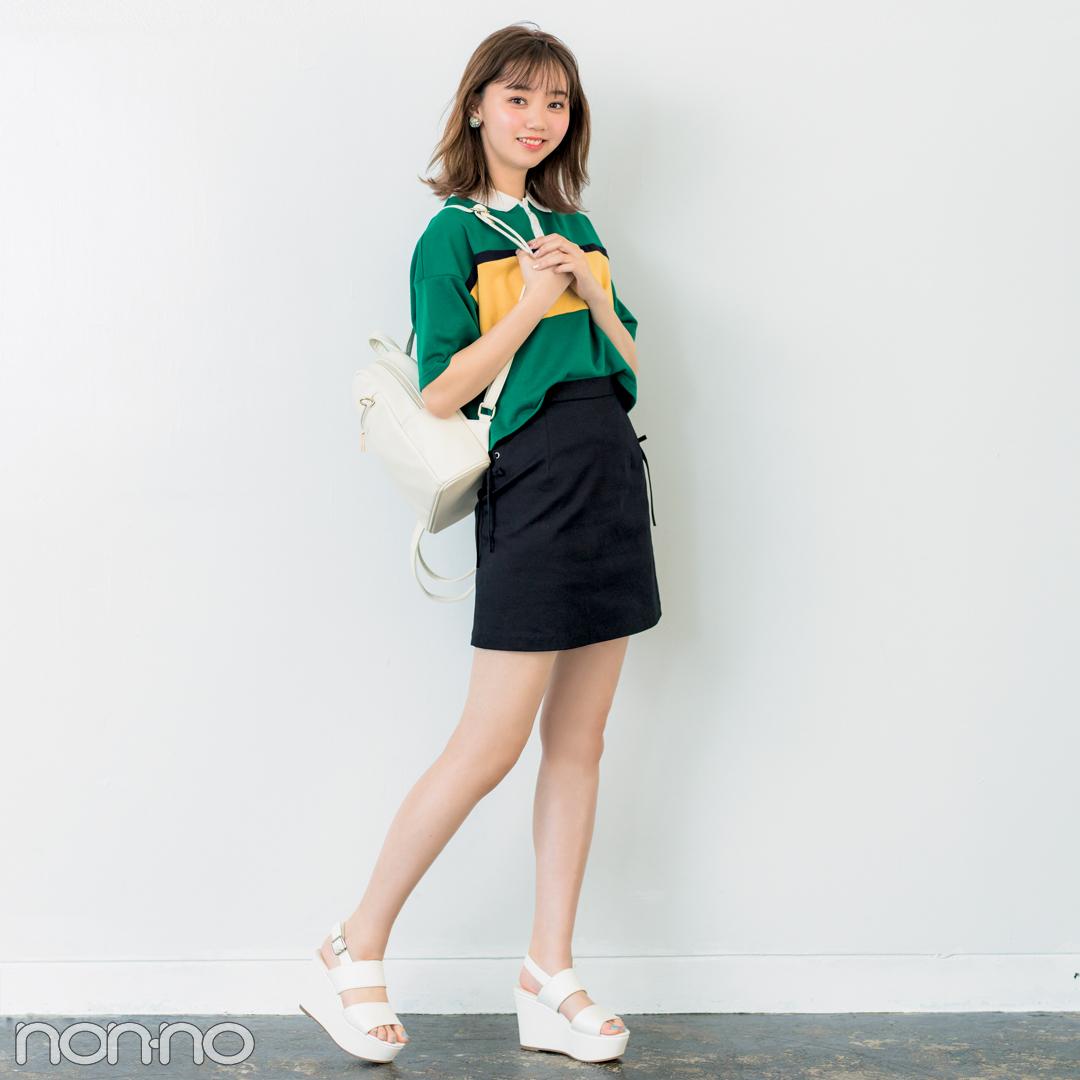 きれいめミニ丈の台形スカート、脚がキレイに見えるコーデはコレ!_1_2-4