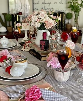 母の日がテーマのテーブルコーディネート
