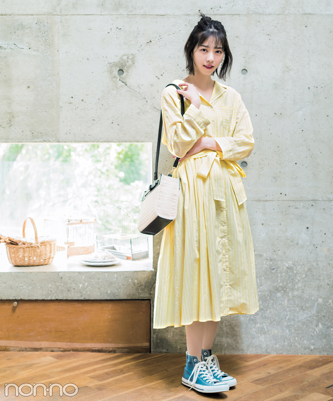 西野七瀬が着る♡ トレンドのストライプ柄ワンピ、春コーデ3選!_1_2-1