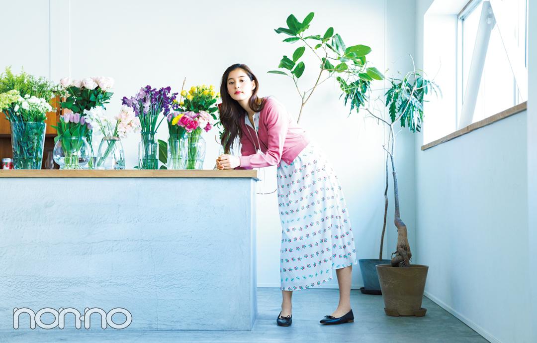 新木優子が着こなすパステルニット♡ 色はやっぱり○○○!【春コーデ2019の正解】_1_2-2