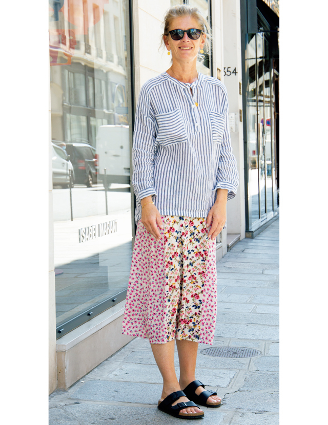 【Paris】フェミニン服にフラット靴が気分