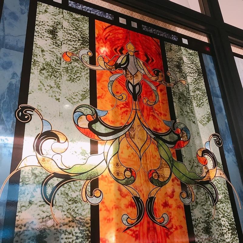 SABONの展示会のステンドグラス