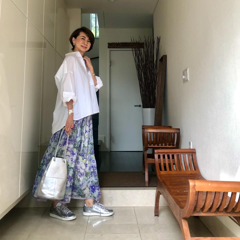 ひらりん花柄スカート_1_4