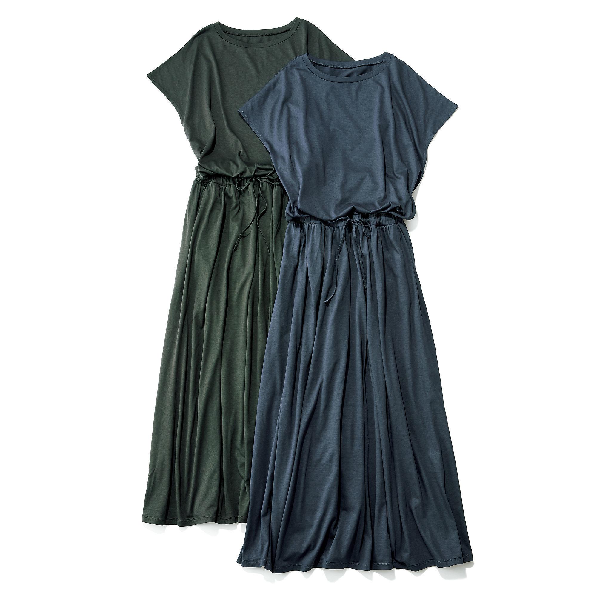 一枚でスタイルが完成!「HAUNT×éclat」洗えるジャージードレス