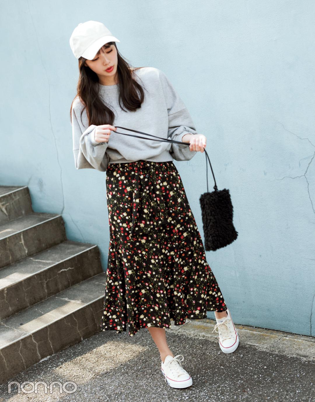 この秋大ブーム! ヴィンテージ風花柄スカート、買うならコレ♡ _1_2-1