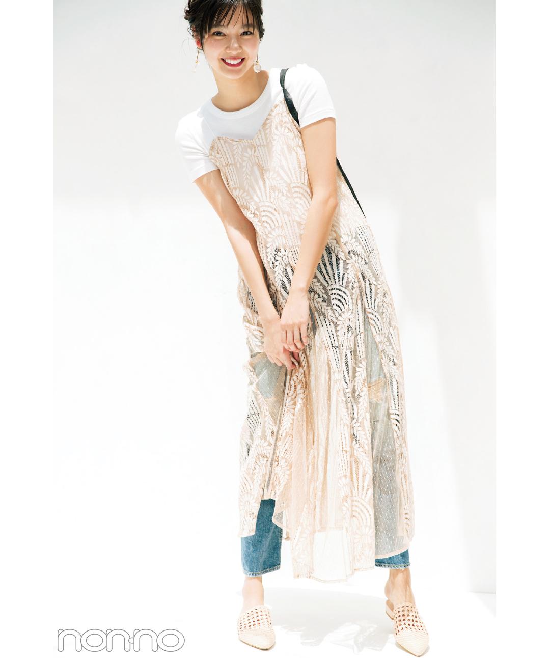 大好評・白の無地Tシャツなのに女っぽい♡着こなしアイデア5選!_1_3-5