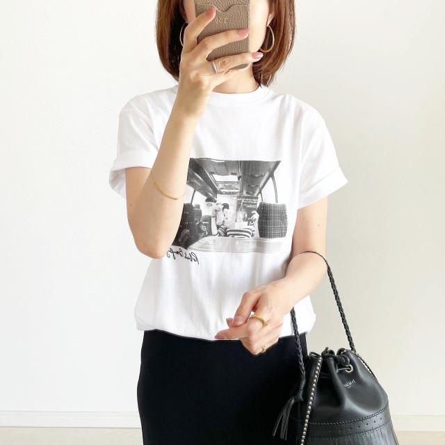 1枚でサマになる!モノクロフォトTシャツ【tomomiyuコーデ】_1_1