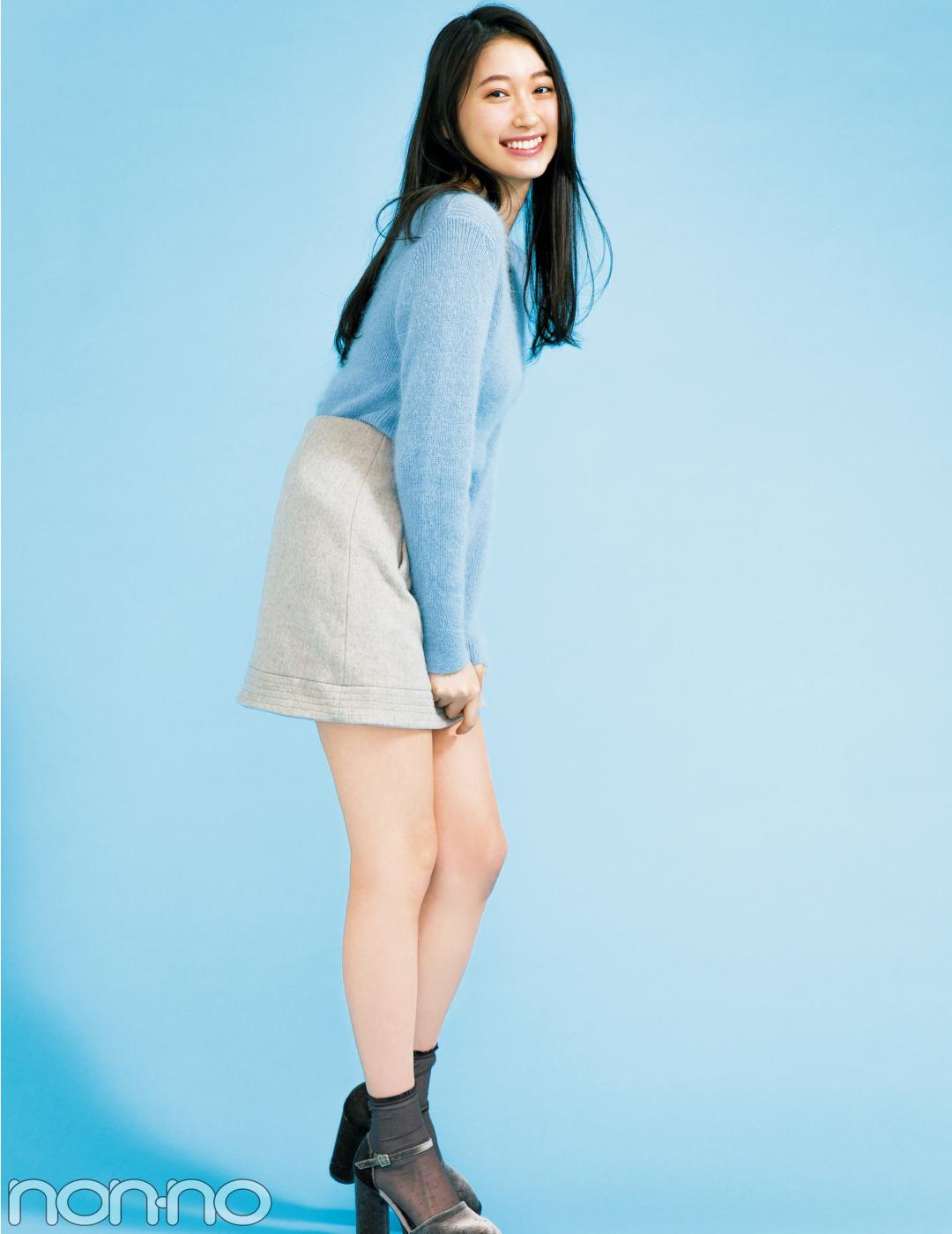 大野いとの台形ミニスカートは、パステル×グレージュの冬色コーデ♡ _1_1