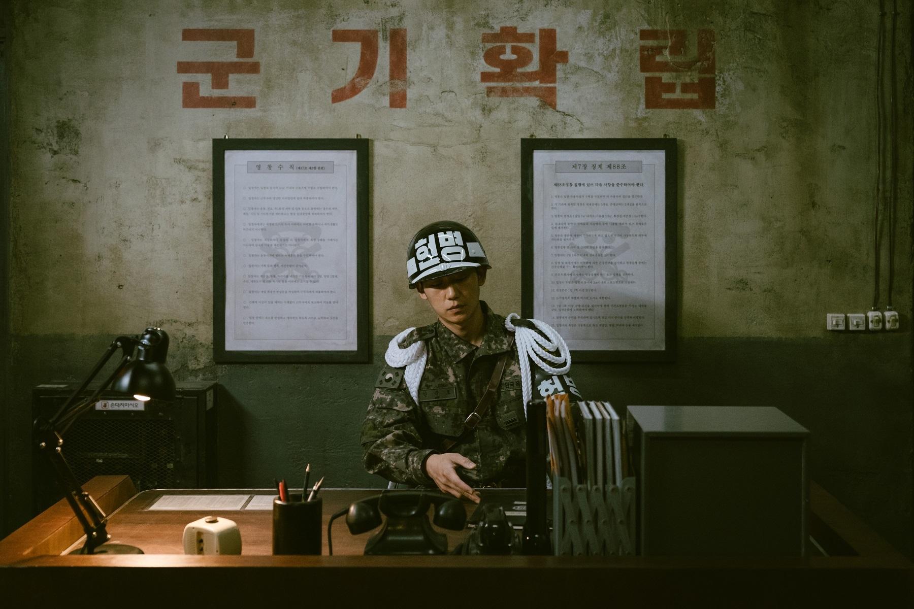 新人兵士アン・ジュンホ役、チョン・ヘイン