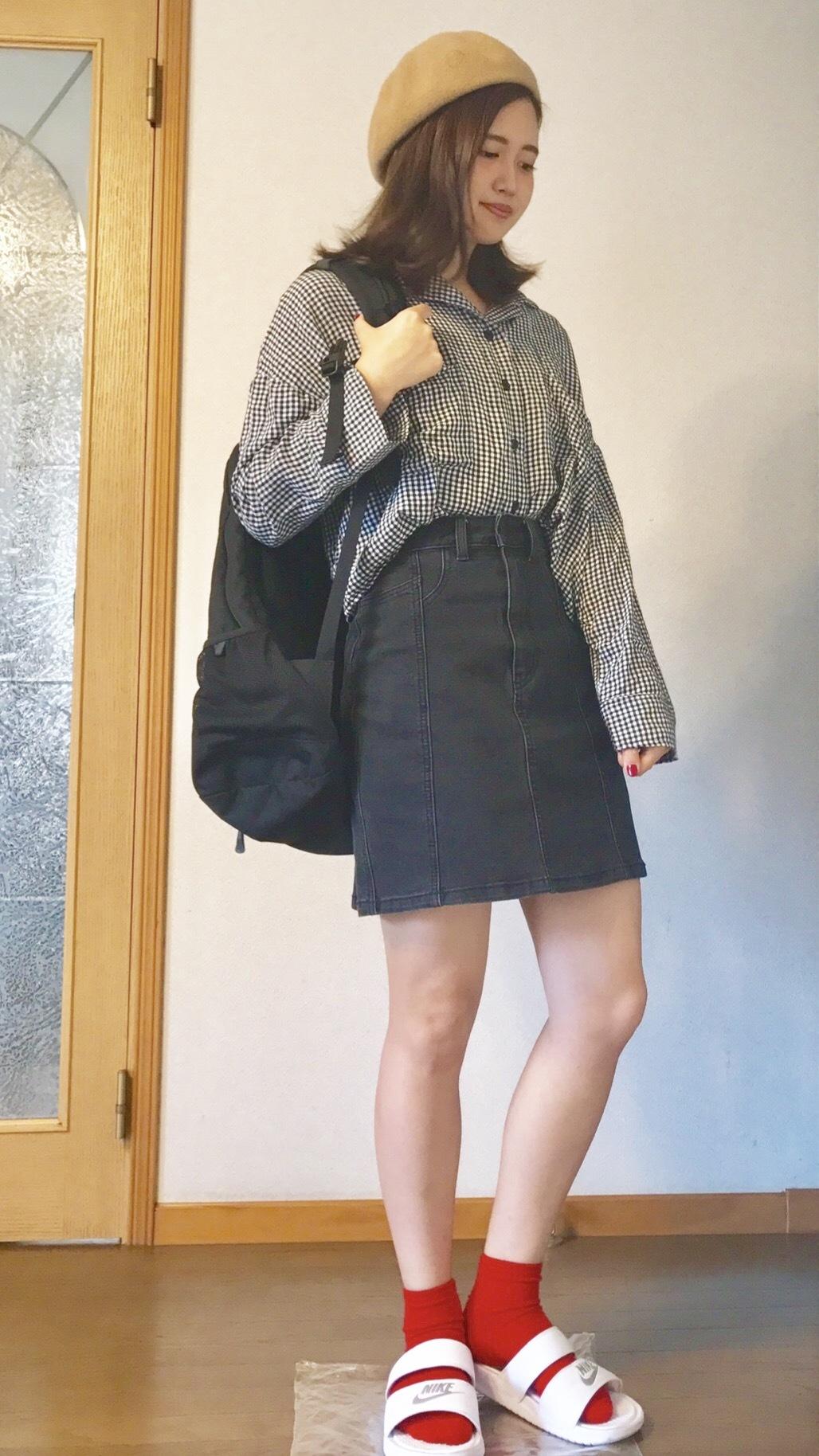 【この季節何着る?】ギンガムチェックの開襟シャツを着回し୧⃛(๑⃙⃘•ω•๑⃙⃘)୨⃛♪♪_1_2