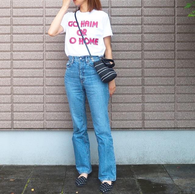 【2019夏のTシャツコーデ①】大好きなHAIMのバンドTで気分良く!_1_2