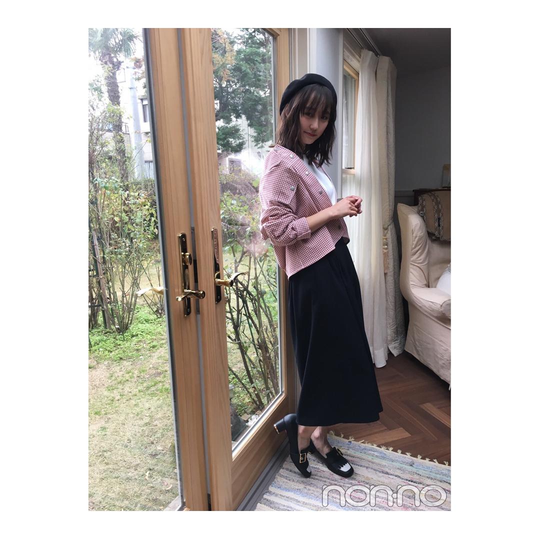 鈴木友菜のギンガムチェックGジャンスタイルが新鮮!【毎日コーデ】_1_1