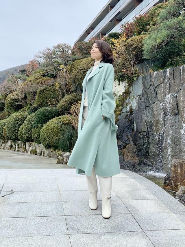 真冬コーデの差し色はコレ!グリーンに注目|40代 2020冬ファッション_1_15