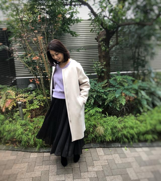 Mila Owenの福袋コーデ続き・黒のドット柄スカート《CFP®認定者ゆっこのファッション》_1_4
