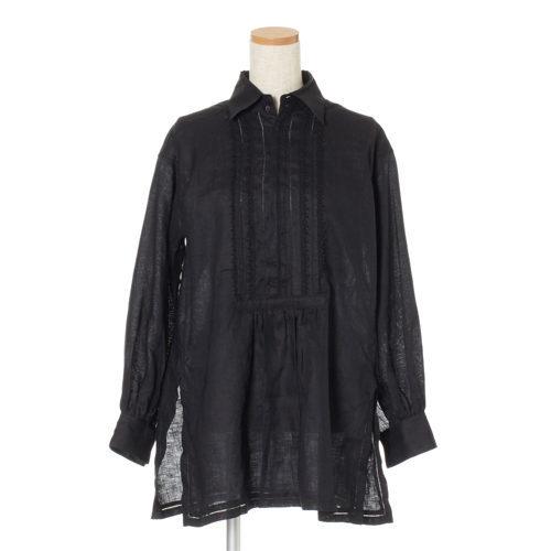 yunahica リネンピコレースシャツ