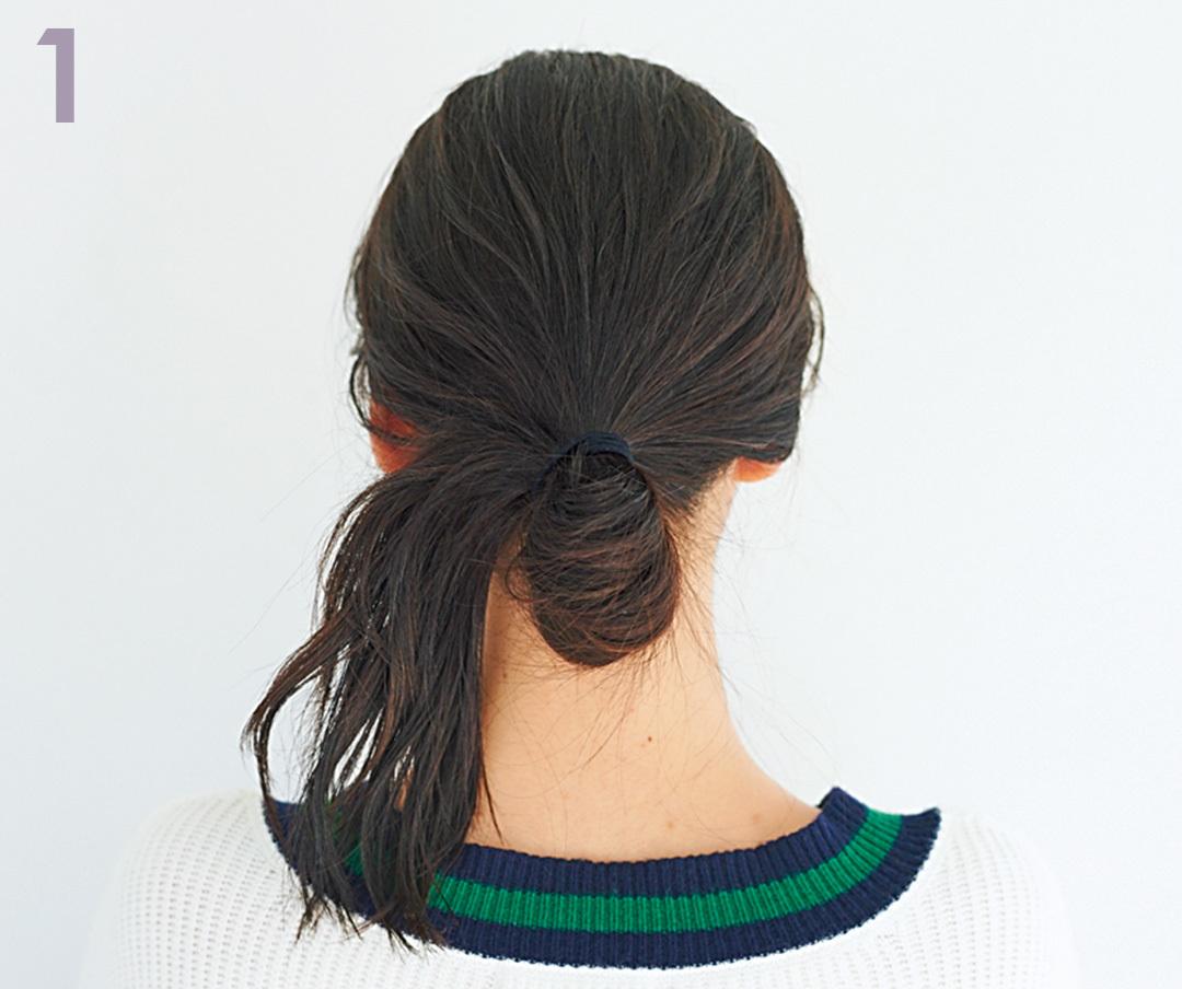 髪が硬い&多い人に朗報♡ こなれ感のあるおだんごヘアアレンジを超ていねい解説!_1_5-2