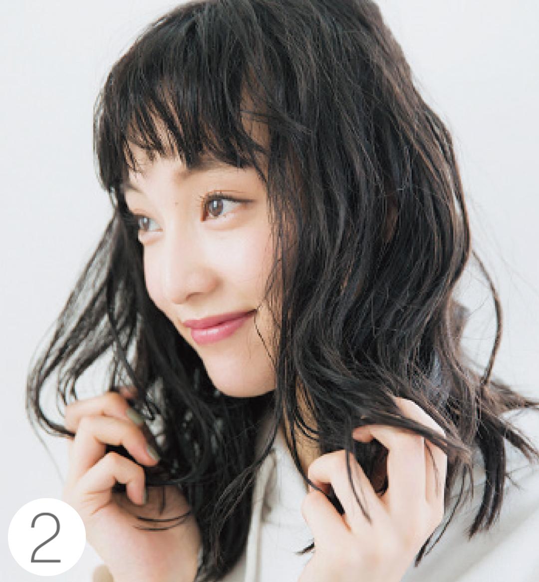 山田愛奈がお手本! 透明感カラーの黒髪でヘアアレンジ★_1_4-2