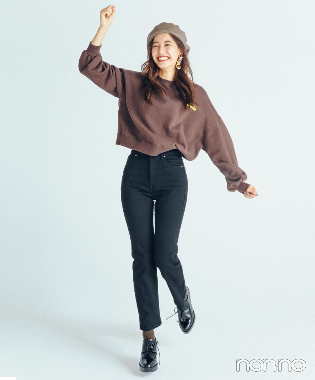 新木優子はトレンドディテールで定番カジュアルを新鮮に【毎日コーデ】