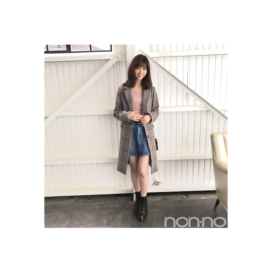 西野七瀬は旬のチェックコートをカジュアル可愛く着こなす!【毎日コーデ】_1_1