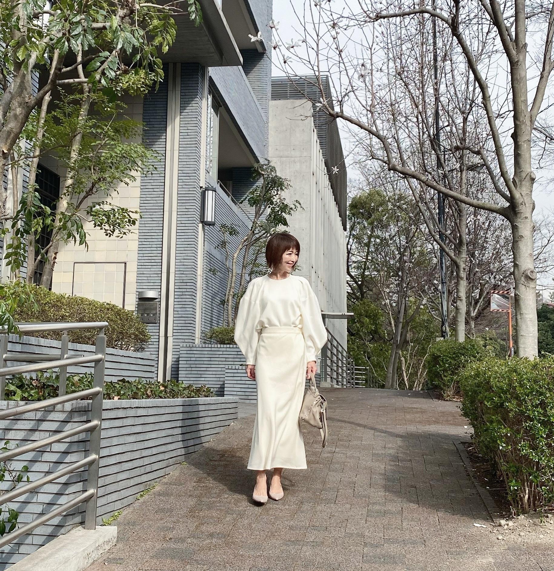 ハンサムロングスカート 〜ホワイト〜_1_7